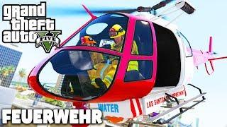 HELIKOPTER am FLUGHAFEN! 😮  - Feuerwehr Mod - GTA 5 Deutsch - LSRD - Grand Theft Auto V
