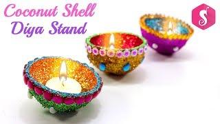 Diya Stand from Coconut Shell | Best Diwali Decoration | Sonali
