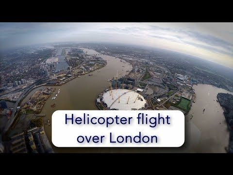 Helicopter flight over central London from Elstree, full ATC