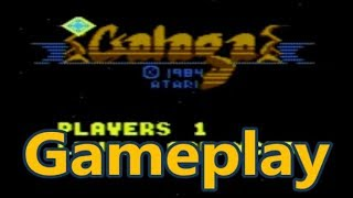 Galaga Atari 7800 Gameplay - The No Swear Gamer