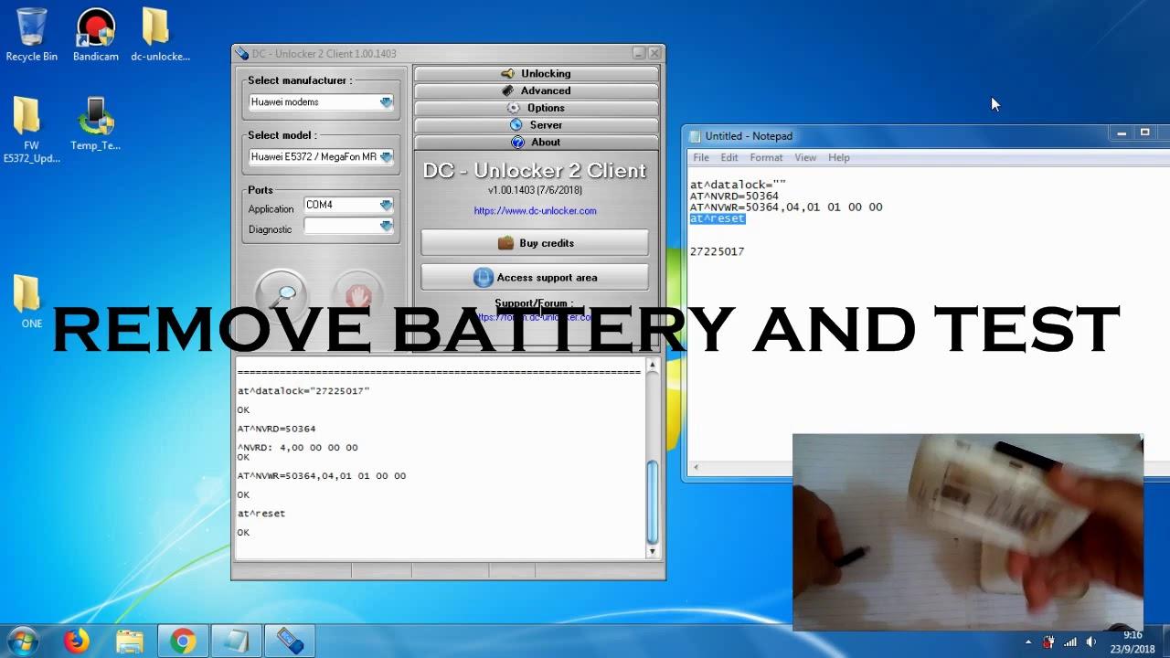BYPASS baterai / without battery Huawei e5372s