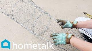 Fall Porch Decor - Grab a tomato cage for genius this fall porch idea! | Hometalk