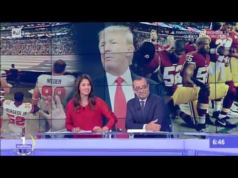 """La rivolta dello sport negli USA. Trump: """"licenziateli tutti"""" - Unomattina 26/09/2017"""
