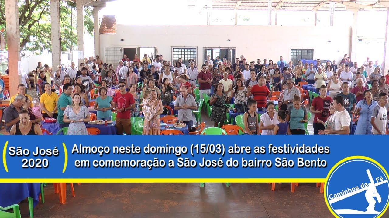 Almoço na Comunidade São José São Bento neste domingo 15 março 2020