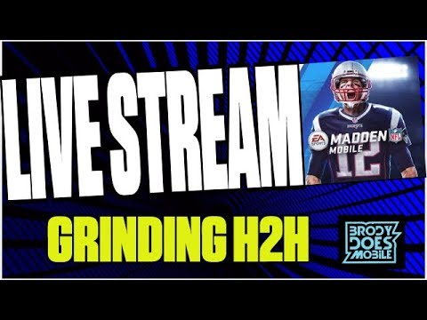 Madden Mobile 18 LiveStream GRINDING H2H FOR 10 MILL FANS +PACKS! BEST PLAYS IN H2H! 100 SPEED HILL!