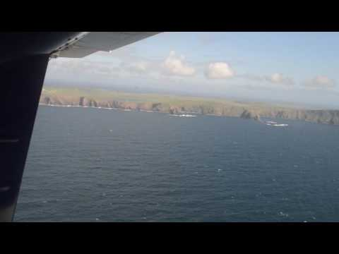 Approaching Shetland from Fairisle