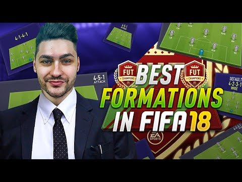 FIFA 18 BEST FORMATIONS TUTORIAL - TOP FORMATIONS TO USE IN FIFA 18 ULTIMATE TEAM & FUTCHAMPIONS !