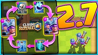 WOW!! • 2.7 THREE MUSKET CYCLE DECK • Clash Royale