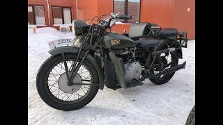 Gilera Marte (swd) | Italy, 1942. Test-drive of a vintage motorcycle.