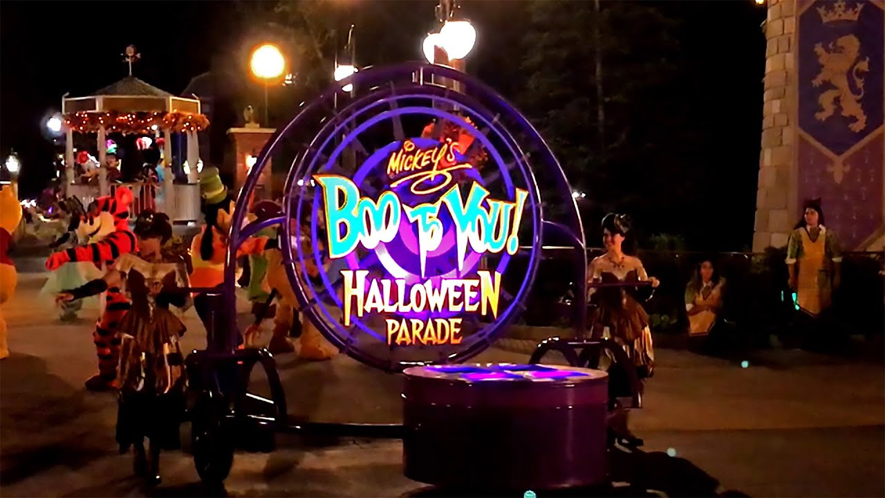 boo to you parade 2016 walt disney world magic kingdom mickeys not so scary halloween party youtube
