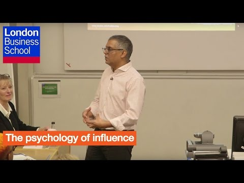 A Day of Executive Education - Madan Pillutla, The psychology of influence