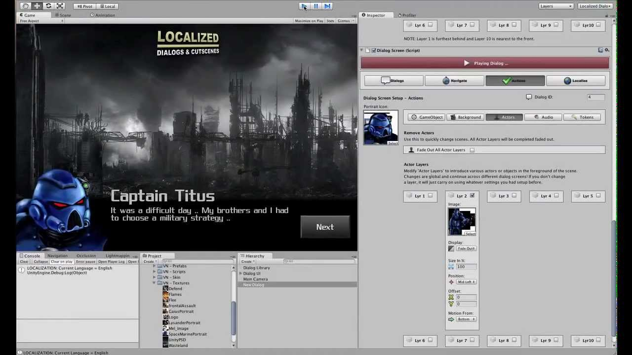 LDC – Localized Dialogs & Cutscene Plugin (For Unity)