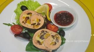 Новогодний стол 2020 Рулет из горбуши с сухофруктами Авторский рецепт / Pink salmon roll