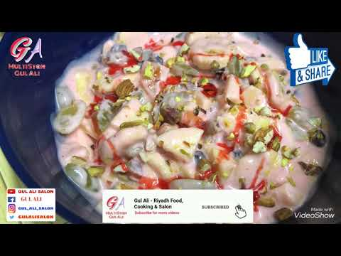 Ramadan Special Energetic Fruit Chaat | Easy Khajoor, Mix Nuts, Fruit, Roh Afza Dahi Chaat