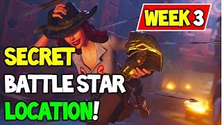 SECRET BATTLE STAR WEEK 3 SEASON 8 LOCATION Guide (Discovery Challenges) - Fortnite Battle Royale