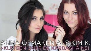 Anna opmaken als Kim K. ❤ kletsen over de Kardashians! | Beautygloss