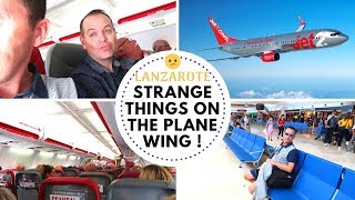 LANZAROTE HOLIDAY   FLYING HOME   NICK SEES SOMETHING STRANGE ON THE WING   VLOG Video