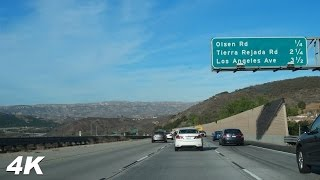 driving around california 4k video simi valley highway with ambient music