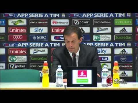 AC Milan | Allegri: 'Dobbiamo fare di piu' (with subtitles)