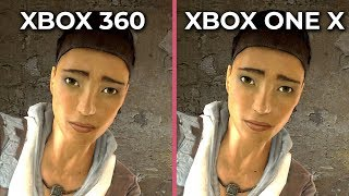 Half Life 2 – Xbox 360 vs. Xbox One X 4K Graphics Comparison The Orange Box