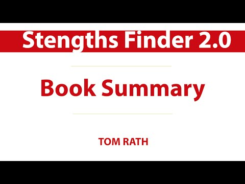 Audiobook summary    StengthsFinder 2.0 - Now, Discover your strengths by Tom Rath