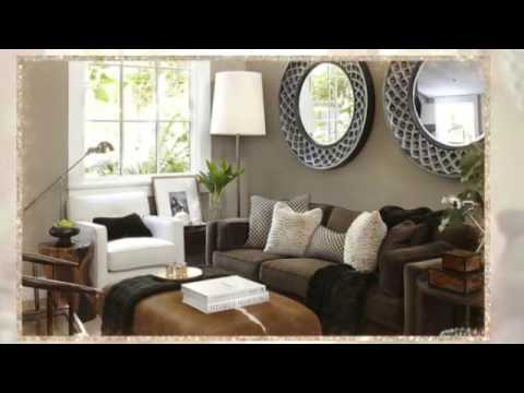Living Room Design Ideas With Dark Furniture Seats Wall Color Youtube