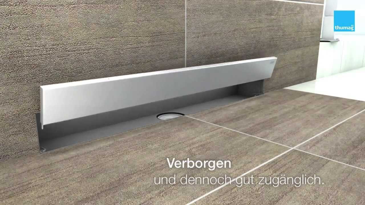 muro wall drain duschrinne f r die wand youtube. Black Bedroom Furniture Sets. Home Design Ideas