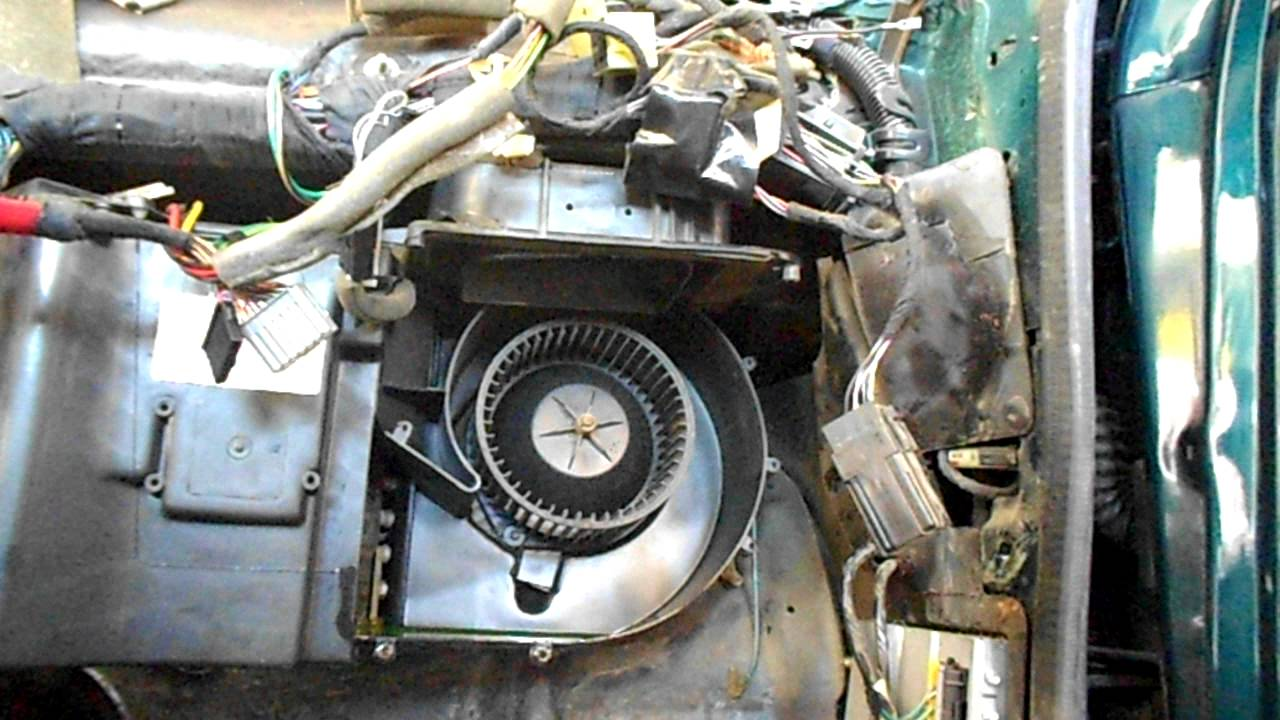 dodge dakota blower motor location