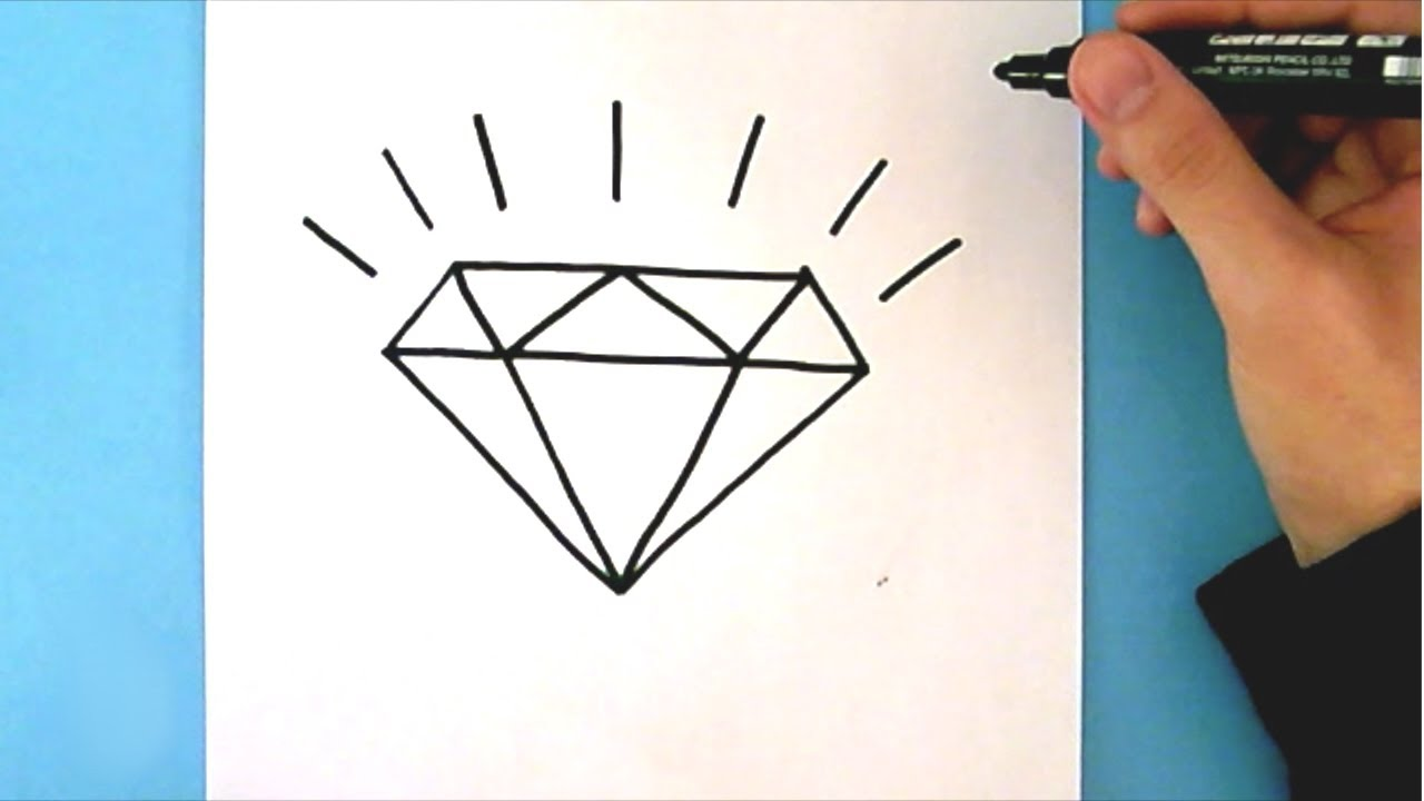 How To Draw A Diamond Step By Step Easy Drawing Tutorial Youtube