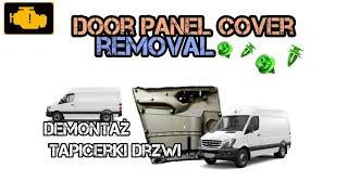 FRONT DOOR PANEL COVER - Mercedes Sprinter - How To Remove Unscrew Inside door panel -  Boczek drzwi