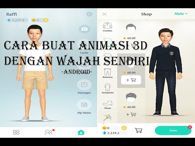 Cara Buat Animasi 3d Dengah Wajah Sendiri Di Android Kaskus