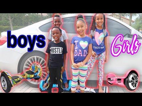 Hoverboard Challenge Ft Pierre Sister & Panton Kids