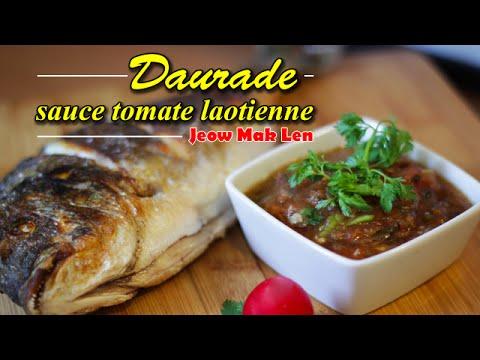 Poisson frit et sa sauce tomate laotienne - Jeow Mak Len  - Le Riz Jaune