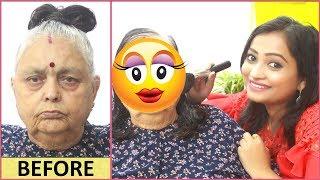 Maine Kiya Saasu Maa Ka Makeup - 75yrs me First Time Makeup Lagaya Hai | Indian Mom On Duty