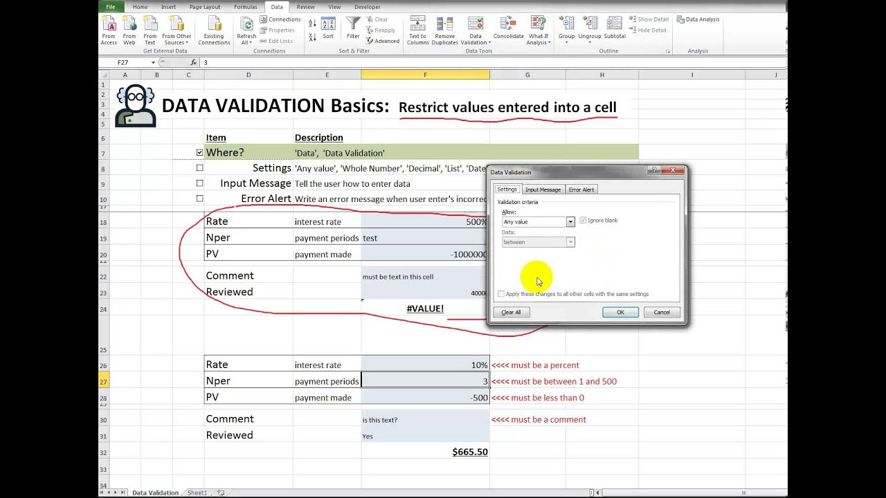 how to clear data validation from a cell
