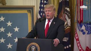 President Trump Delivers Remarks at the Congressional Medal of Honor Society Reception