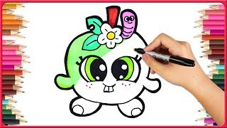 How To Draw Shopkins Drawing And Shopkins Coloring In Drawing Tutorial | Draw Online | Drawing Ideas