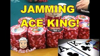 Mr Bill Poker Vlog 75 - Jamming Ace King!!