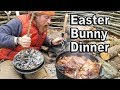 Easter Bunny Rabbit Catch and Cook In A  Dutch Oven (87 Days ep. 26)