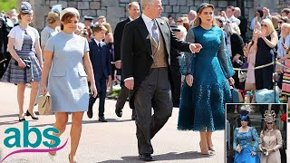 Beatrice and Eugenie's hatsdisappoint at royal wedding  | ABS US  DAILY NEWS