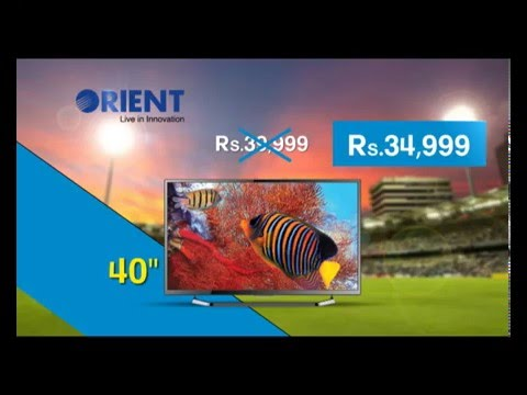 Orient LED TV ICC World Cup 60 & 40