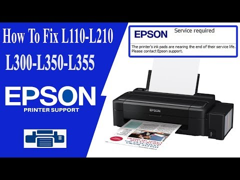 Epson L100 L210 L300 L350 L355 Epson Adjustment Program || Lines On Printing