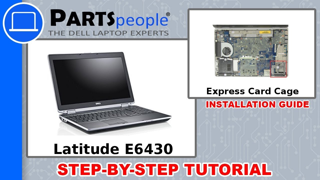 Dell Latitude E6430 (P25G001) Express Card Cage How-To Video Tutorial