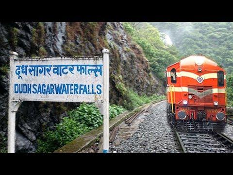 Journey Across DUDHSAGAR WATERFALLS: Londa To Madgaon - 18047 AMARAVATI EXPRESS