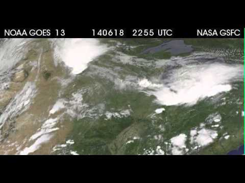 Satellite Animation of Storms that Flooded the Midwestern U.S.