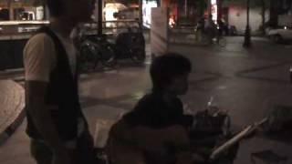 09年7月28日(火)第3回名古屋・金山駅前フォーク路上♪ とんぼちゃん「ひ...