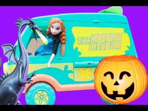 HALLOWEEN Prank HAUNTED Mystery Machine Disney Frozen Anna Princess Parody Scooby Doo Van Toy