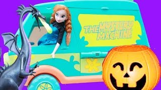 HALLOWEEN Prank HAUNTED Mystery Machine Disney Frozen Anna Princess Parody Scooby Doo Van Toy