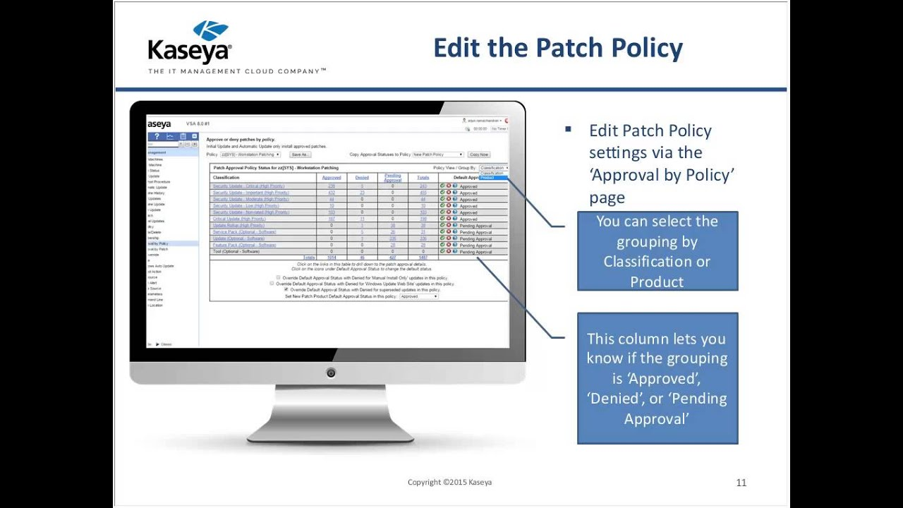 Kaseya patch management review