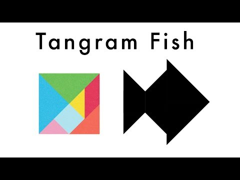 Make This Tangram Fish 🐟- Download A Free Tangram Puzzle Sheet In The Video Description